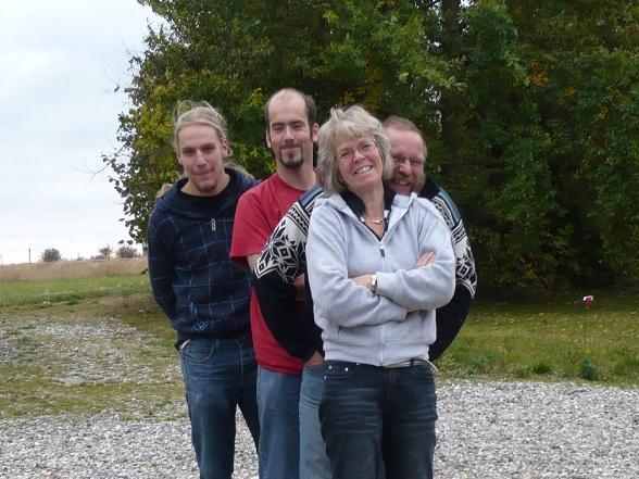 Het team van StaySail Danmark. Van voor naar achter: Lies, Ton, Kim en Stefan