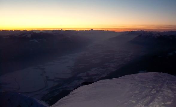 Zonsondergang in Oostenrijk
