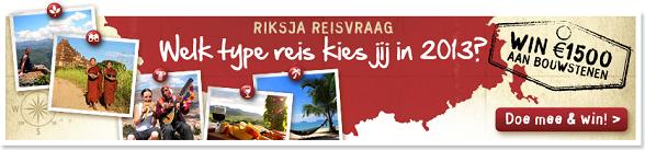 Riksja Reisvraag: win € 1500 aan bouwstenen!