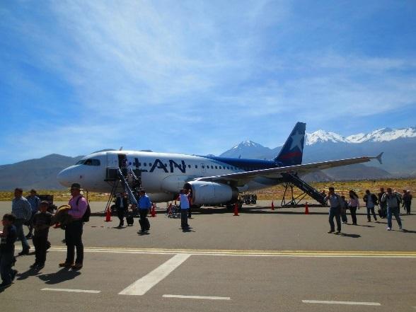 Met LAN naar Arequipa