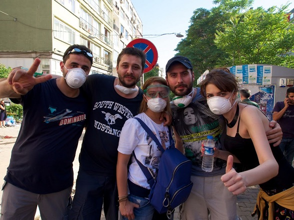 Demonstratie Taksimplein, Istanbul