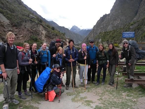 groepsfoto inca trail