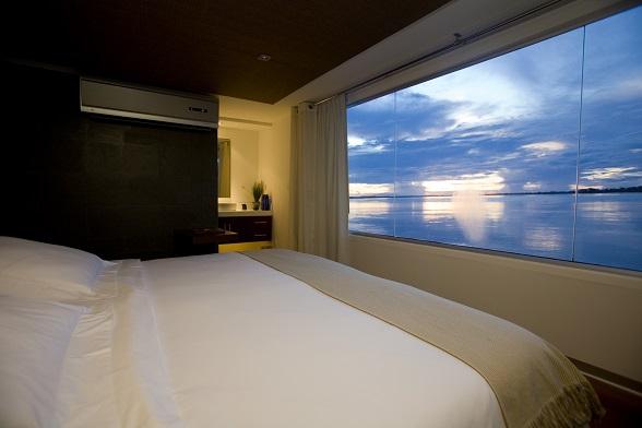 Luxe suite Amazone cruise, fotocredits: PromPeru