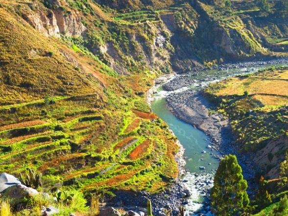 terrassen colca canyon