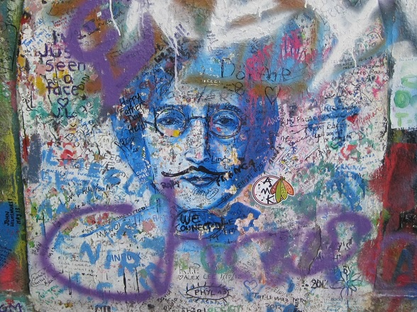 John Lennon Wall, Praag