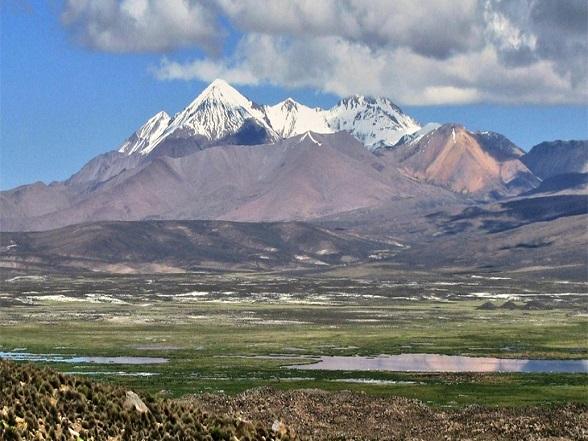 Remco beklom de Nevado Pisco in het Andesgebergte