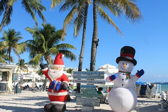The Florida Keys in de kerstperiode