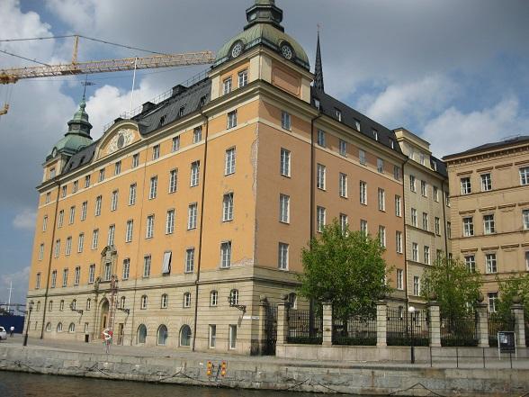 Het parlementsgebouw van Stockholm is het decor voor de Rooftop Walk.