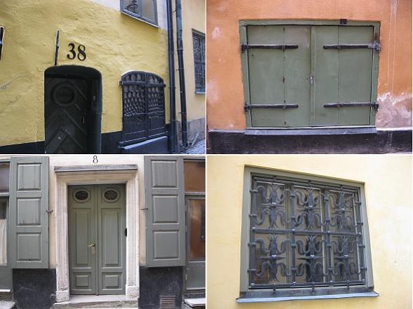 De gebouwen in Gamla Stan zijn prachtig afgewerkt. Er zijn volop details om je aan te vergapen, zoals gietijzeren ramen, luiken, bewerkte deuren, tralies en poortjes. Erg mooi om te zien!
