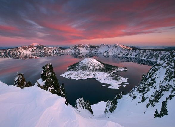Crater Lake, photograph by Tyson Fisher