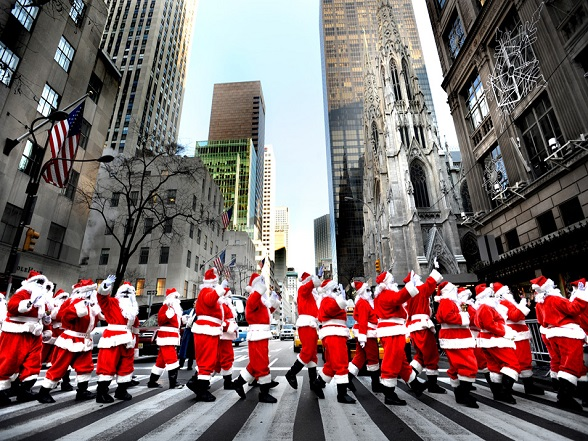 Kerstmannen in New York