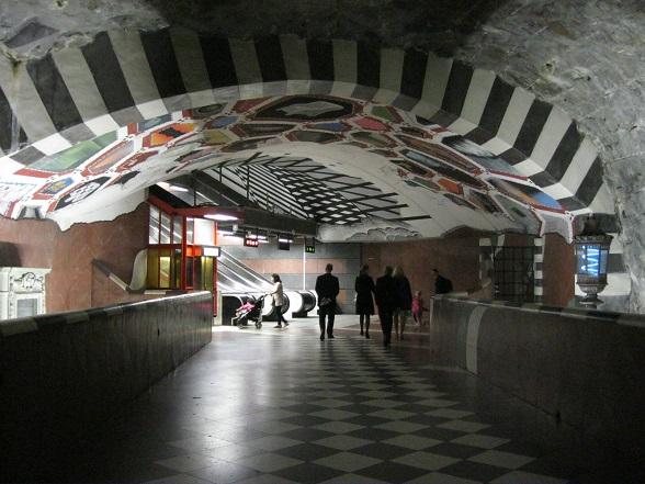 Stockholm metro Kunstradgarden