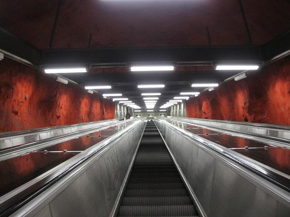 Stockholm metro Solna Centrum