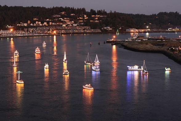 Christmas Boat Parade, Yaquina Bay, Newport
