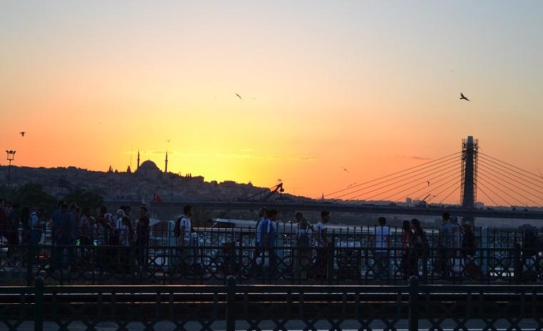 galatabrug-zonsondergang