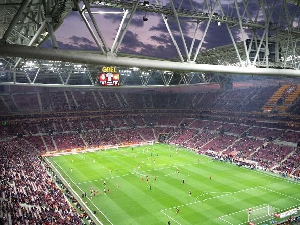 Galatasaray voetbalwedstrijd