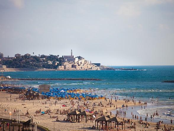 Het strand van Tel Aviv.