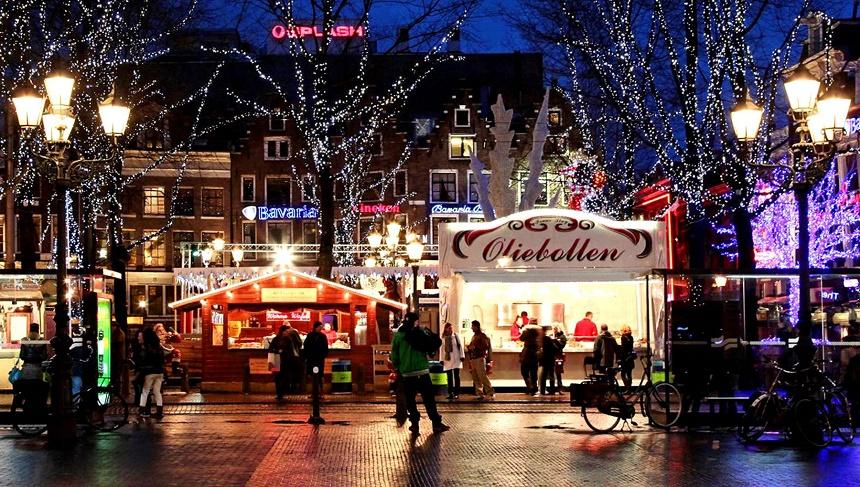 Vier oudejaarsavond in Amsterdam