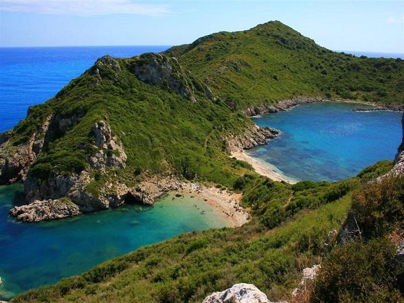 Afionas Beach op het Griekse eiland Corfu