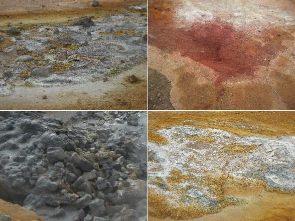 Door de geologische activiteit heeft de aarde in IJsland alle tinten rood, bruin, geel en grijs die je maar kunt bedenken