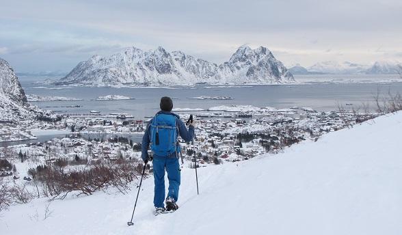 Sneeuwwandelen op de Lofoten
