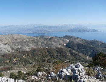 Op de top van Corfu