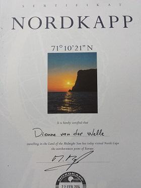 Noordkaap certificaat