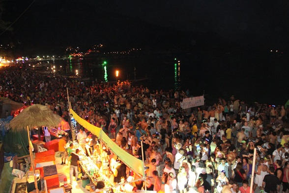 Full Moon Party, Haad Rin Nai Beach, Koh Phangan