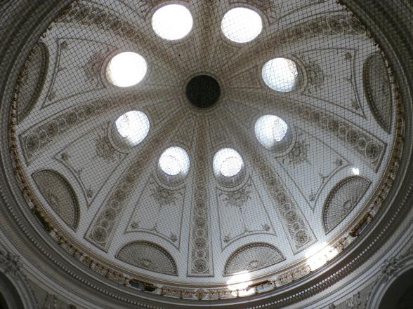 Een plafond in het complex van de Hofburg, de voormalige winterresidentie van de vorsten