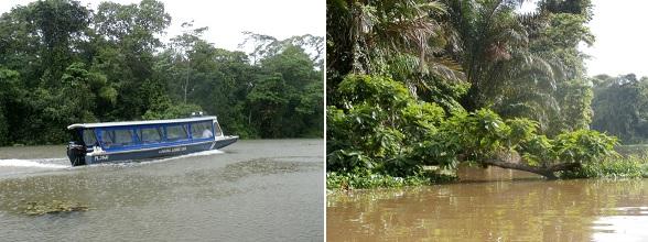 Tortuguero is alleen over het water bereikbaar. Het park ligt aan de Atlantische kust van Costa Rica.
