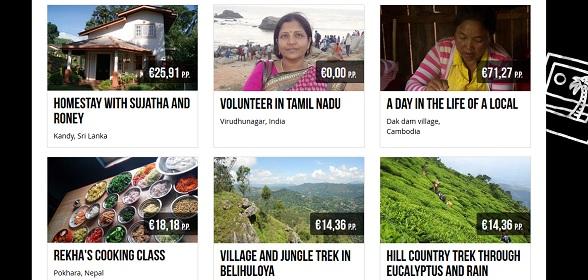 I Like Local heeft activiteiten in verschillende categorieën, zoals Farmstays en Volunteering
