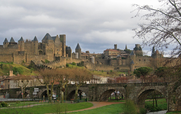 De middeleeuwse stad Carcassonne in Frankrijk