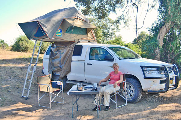 namibie reis daktent eerste nacht