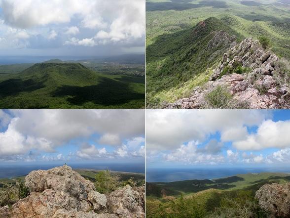 Het fantastische uitzicht op de Christoffelberg op Curacao