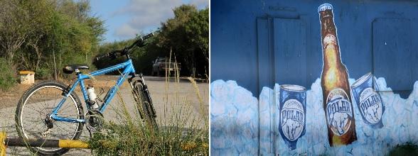 We sluiten de fietstocht af met een koud drankje bij de snek en proosten op Curacao