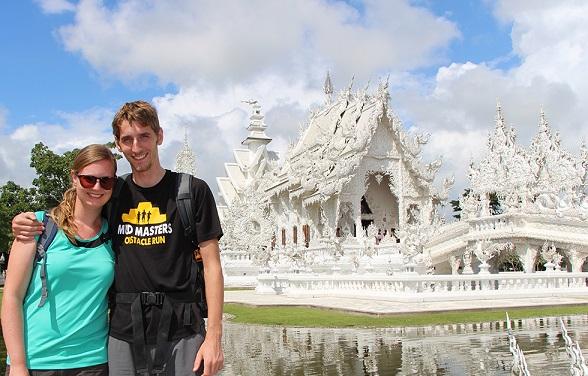 Sander en Mariska bij de Witte Tempel