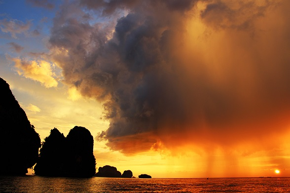 sunset railay beach