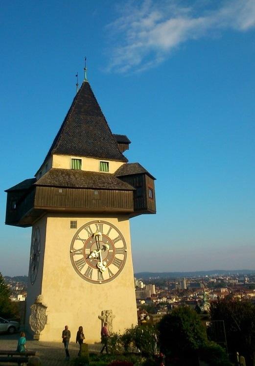 De beroemde klok op de Schlossberg