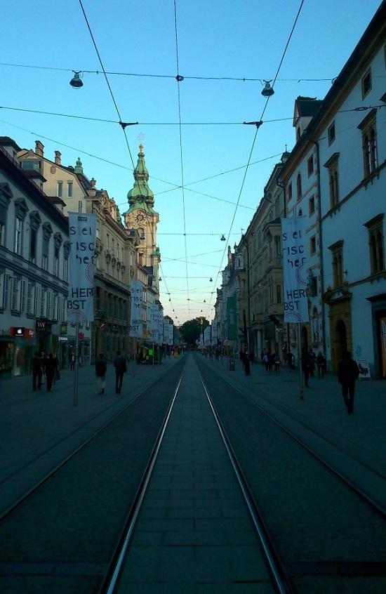 Het autoluwe centrum van Graz