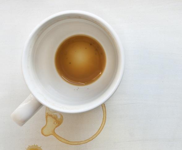 lege kop koffie