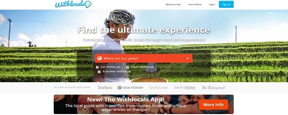 Een kijkje op de website van Withlocals