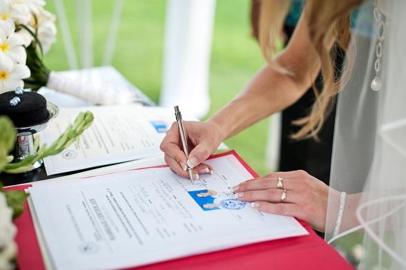 ondertekenen huwelijksakte