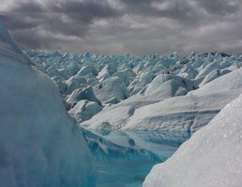 Gletsjer verplettert toerist