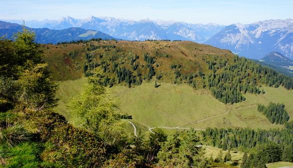De toppen van de Alpen