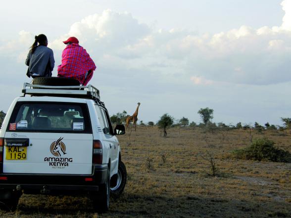 Amazing Kenya Retreat biedt ook excursies, zoals een safari