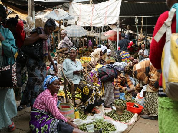 Een markt in Kenia