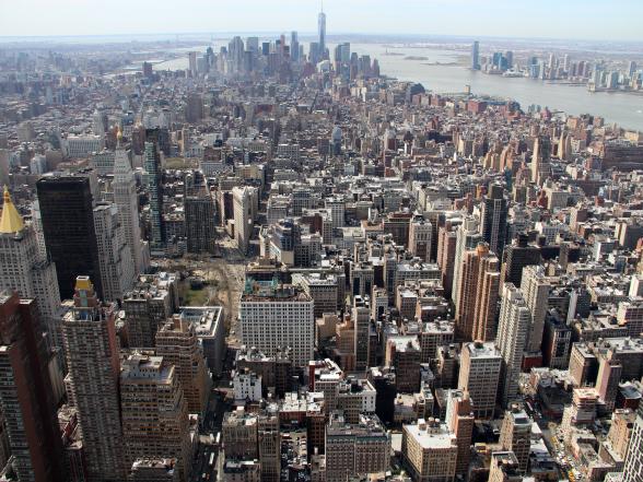 Het uitzicht vanaf de top van het Empire State Building is geweldig!