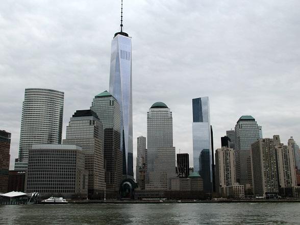 De skyline van Lower Manhattan, New York