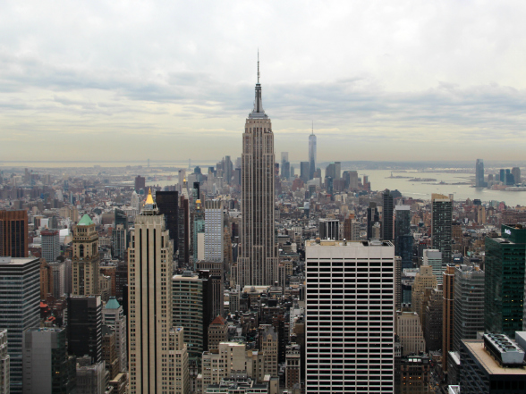 Vanaf observatieplatform Top of the Rock heb je één van de mooiste uitzichten van New York!