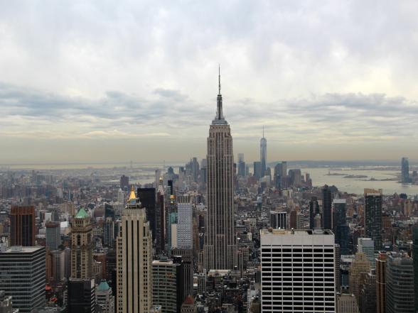 Hoe je het ook bekijkt, het uitzicht over New York is prachtig om te zien. Deze foto is genomen vanaf Top of the Rock, het uitkijkplatform van Rockefeller Center